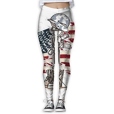 209d06f06b506 Tisky women power flex yoga pants workout running leggings color paint  american flag military equipment jpg