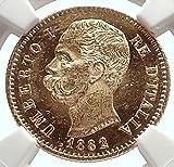 1882 IT 1882 Italian UMBERTO I 20 Lire G