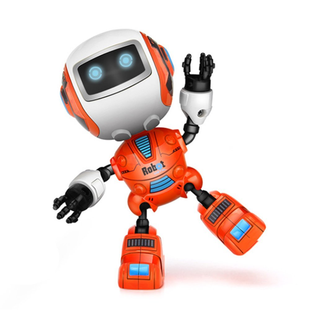 DraWaoy Mini Intelligent Robot for Kids - Alloy Touch Sensing Robot for Boys, Girls Aged 3 Above(Orange)