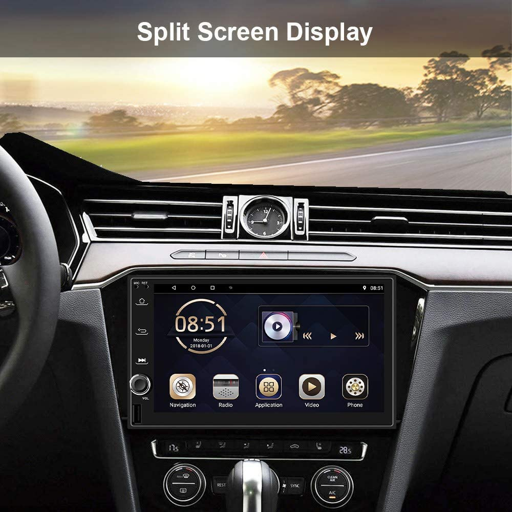 Android Double Din Car Radio 7 inch Touch Screen car stereo with ...