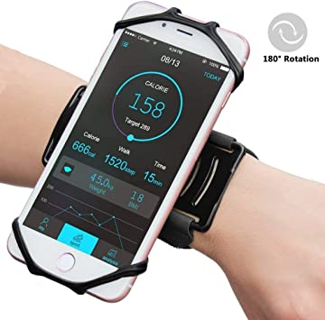 Blizim Elástico Deporte Pulsera 180° Giratorio Silicona Soporte Smartphone: Amazon.es: Electrónica