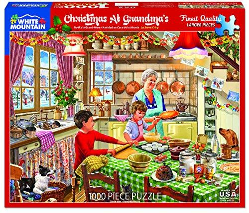 White Mountain Puzzles Christmas at Grandma's-1000Piece Puzzle-Designer: Steve Crisp