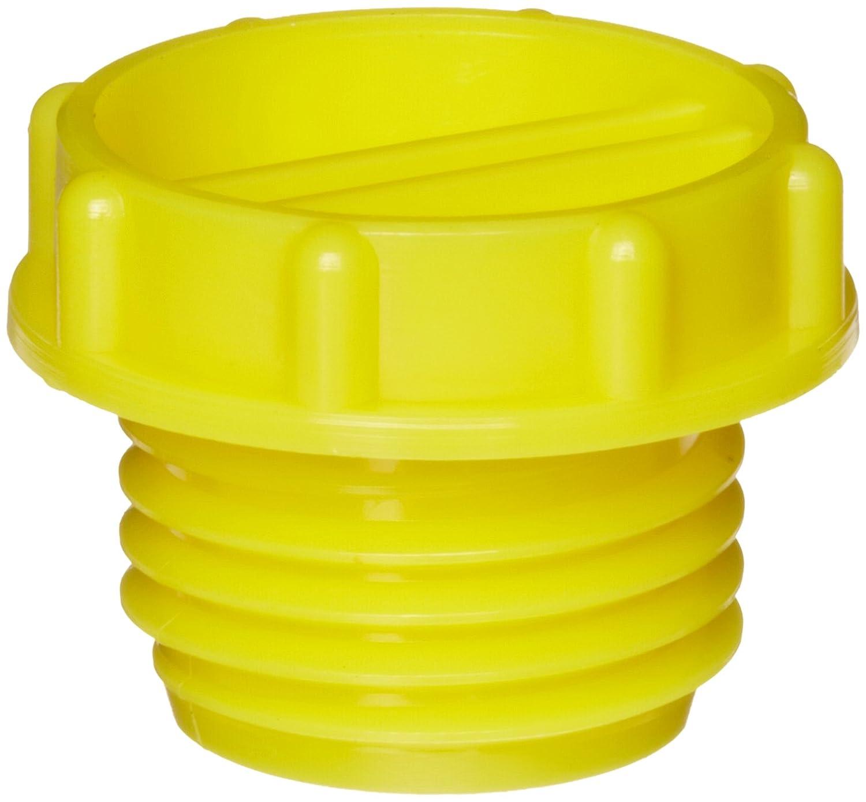 Kapsto 700 9//16-18 UNF Polyethylene Screw Plug Yellow 19 mm Tube OD Pack of 100