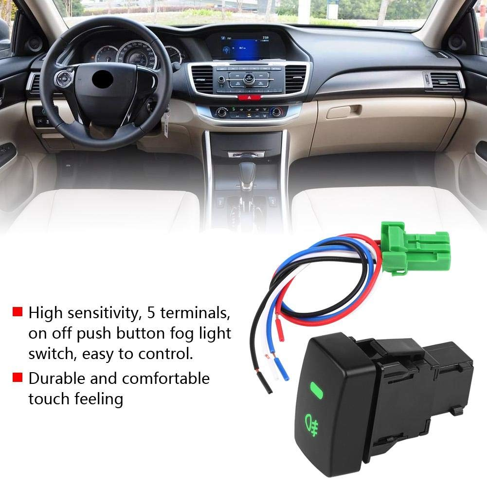 Terisass 5 Pins Fog Light On//Off Switch 644327 Connecting Line for Honda Civic 1996 1997 1998 1999 2000 Accord Odyssey CR-V 2002 2003 2004 2005 2006 2007 2008 2009 FIT 2008 2009 2010 2011 2012 2013