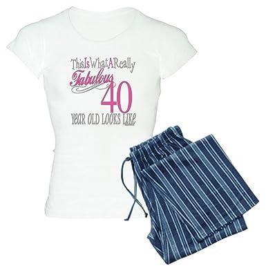 5314b15daa5 Amazon.com  CafePress - 40th Birthday Gifts Women s Light Pajamas - Womens  Novelty Cotton Pajama Set
