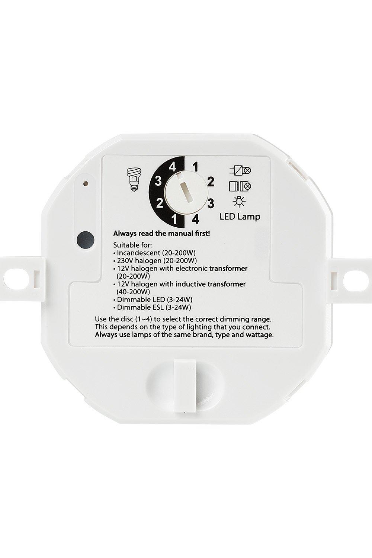 Trust ACM-100 - Regulador de intensidad integrado inalámbrico, blanco: Amazon.es: Bricolaje y herramientas