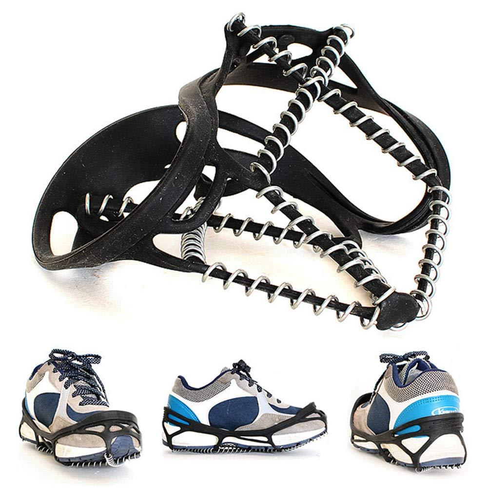 Jinm antidérapant Housse à chaussures, poids léger élastique Crampons Professional Traction Crampons de glace, neige Grips Pointes, antidérapant Chaussures Coque pour extérieur randonnée d'escalade alpinisme Ice Snow
