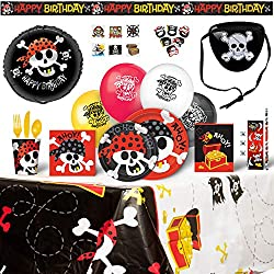 Pirate Birthday Party Supplies for 8 Guests - 200 Pieces