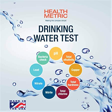 Drinking Water Test Kit For Municipal Tap and Well Water Simple Testing Strips For Lead Copper Bacteria, Nitrates, Chlorine and More