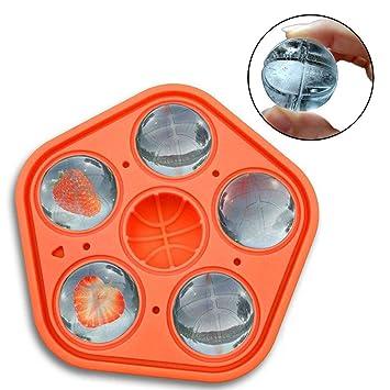 Womdee - Moldes de Silicona para Bolas de Hielo de Baloncesto 3D, moldes de Silicona