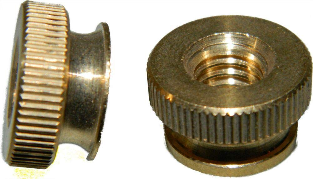 Solid Brass Knurled Thumb Nuts 3/8-16 Qty 250 by Hontools