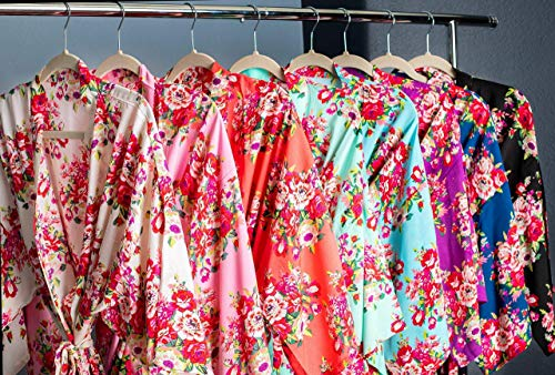 Ella Winston Floral Bridesmaid Kimono Robes Available in Eight Colors, Getting Ready Robes, Bridal Party Robes