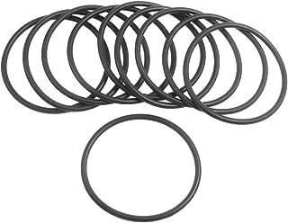 sourcingmap® Dieci Pz 58mm x: 3,1 mm Silicone nero O ring paraolio guarnizioni