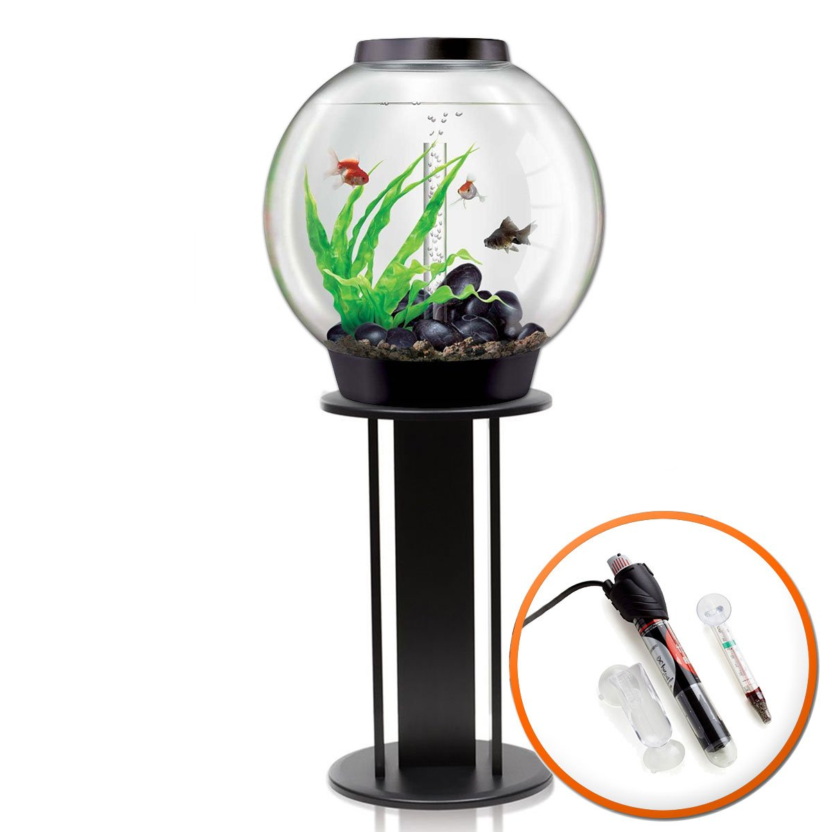 BiOrb Classic 60L Tropical Aquarium in Black with Standard LED Lighting & Black Stand