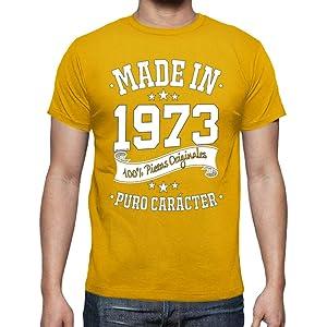 Made in 1973 - Camiseta para Hombre 46th Cumpleaños 70s ...