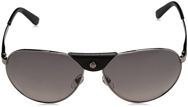 e9fd888454 Gucci GG 2226/S Gafas de sol, Ruthenium, 63 para Hombre: Amazon.es: Ropa y  accesorios