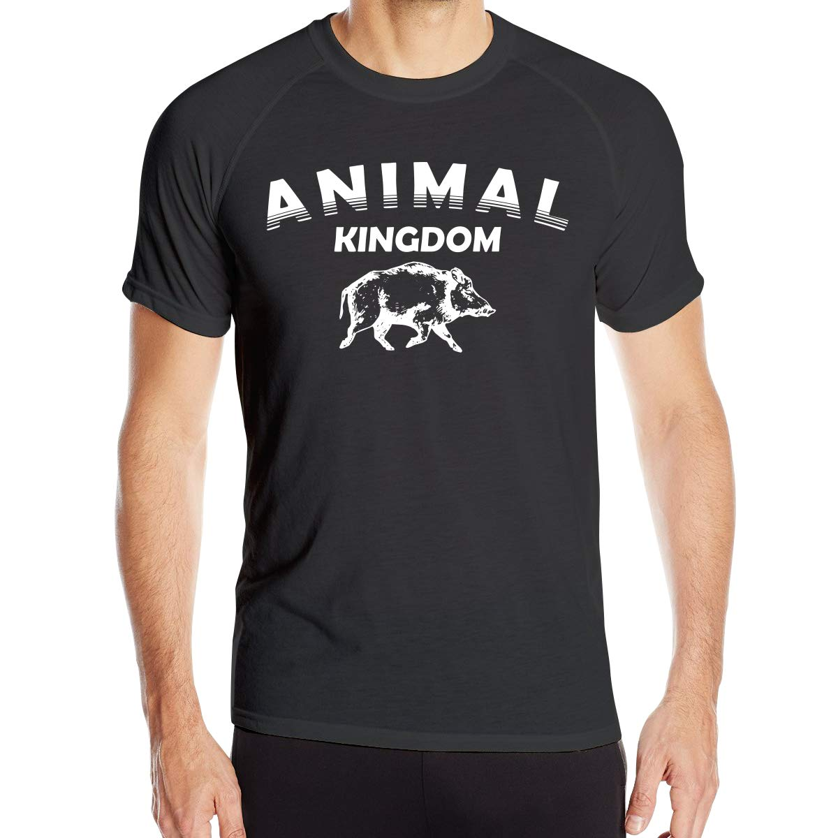 Mens Animal Kingdom Pig Quick Dry Athletic Shirts Crew Dry Fit Casual Tee