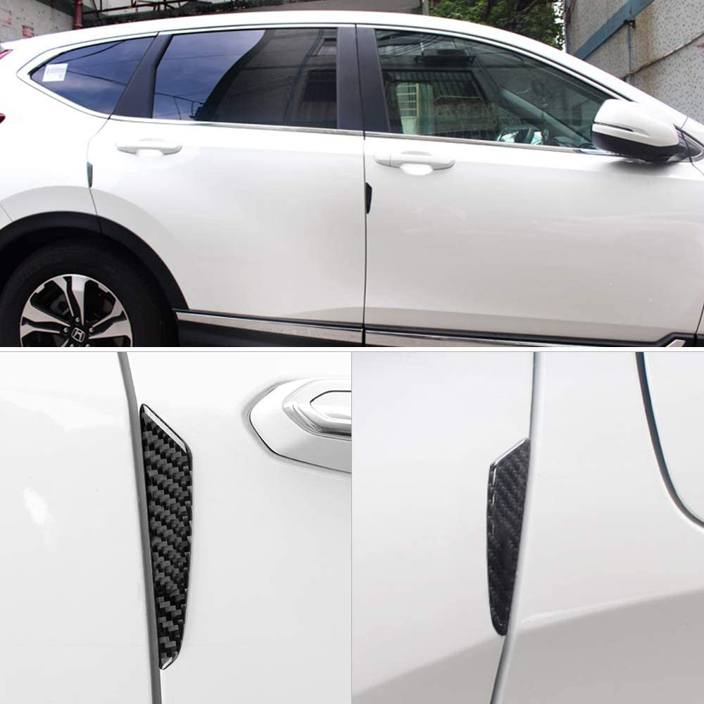 LECART 4pcs Auto Door Side Edge Protection Guard Carbon Fiber Anti-Scratch Protector Trim Sticker Car Side Door Guard Edge Defender Protector Trim Guard Sticker Universal for Car SUV Pickup Truck