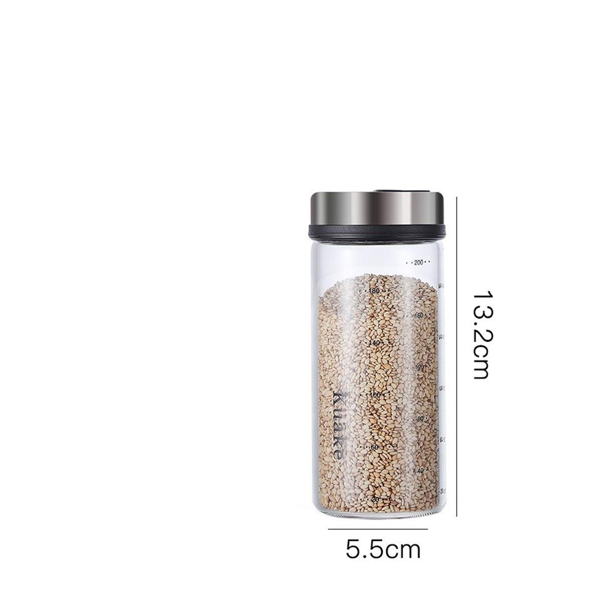 caja de condimentos de cristal olla frasco de condimentos para el hogar JIAHUI Molinillo a prueba de humedad para salero de cocina molinillo de miel 200 ml