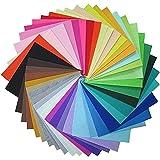 42 Farben Filzstoff Bastelfilz,Filz Blätter Polyester Felt Fabric, Stoff filzplatten für DIY manual decoration (20 x 30cm)