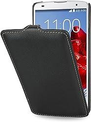 StilGut UltraSlim Case, custodia in vera pelle per LG G Pro 2, nero
