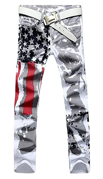 Pantalones Vaqueros de Mezclilla Estampados con Estampado de ...