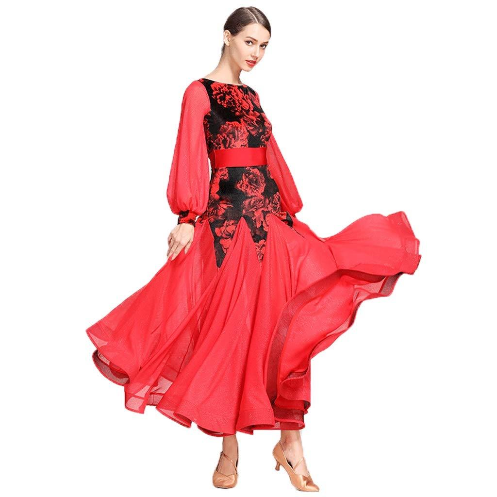 大人気定番商品 現代のダンス衣装女性のためのパフォーマンススカートレトロコートスリーブ標準のダンスの服社交ダンスの競争のドレスワルツスカート B07QHWWCCR B07QHWWCCR ワインレッド XXL|ワインレッド XXL ワインレッド XXL, ダイシン+1:bd7ce6c4 --- a0267596.xsph.ru