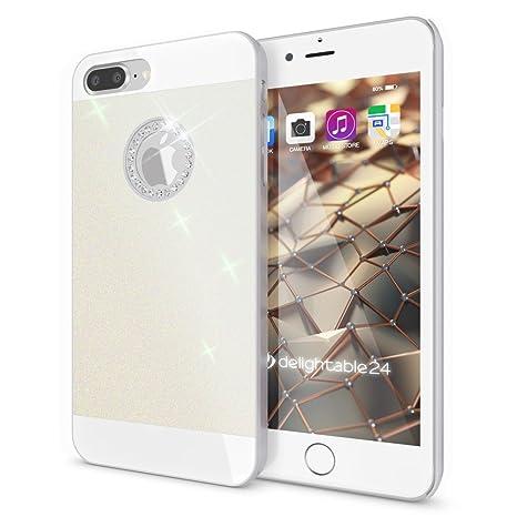 89e57b80d69 NALIA Funda Carcasa Compatible con iPhone 8 Plus / 7 Plus, Protectora Movil  Purpurina Cubierta