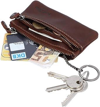 Gusti Schlüsseltasche Leder Fia Portemonnaie Geldbeutel Klein Schlüsseletui Schlüsselmappe Braun Leder Bekleidung