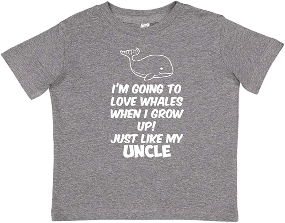 Just Like My Uncle Toddler//Kids Short Sleeve T-Shirt Im Going to Love Whales When I Grow Up