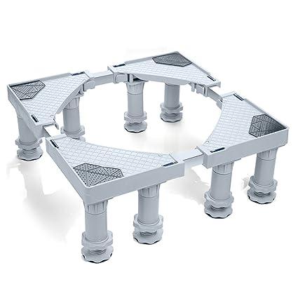 NYDZ Base Ajustable Multifuncional con 8 Ruedas móviles de Rodillos para Caja Fuerte para Lavadora,