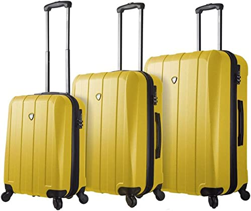 Mia Toro Italy Tosetti Hardside Spinner Luggage 3pc Set, Gold, One Size
