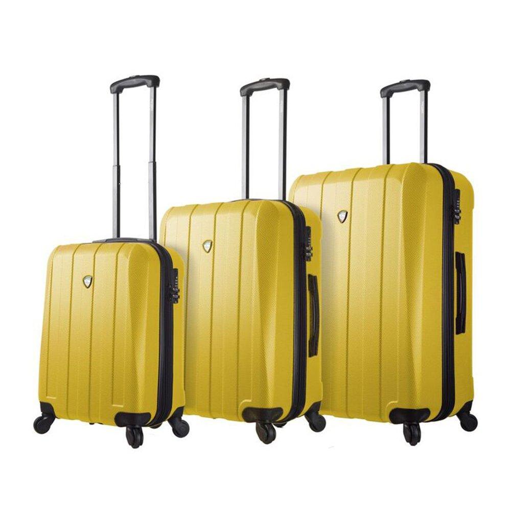 Gold Mia Toro Luggage M1220-03PC-GLD Mia Toro Italy Tosetti Hardside Spinner Luggage 3pc Set