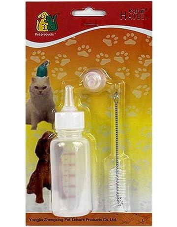 Sanzhileg 50 ML Perro recién Nacido Cachorros Perro Mascota Enfermería Alimentación Tubo Botella Botella de Leche