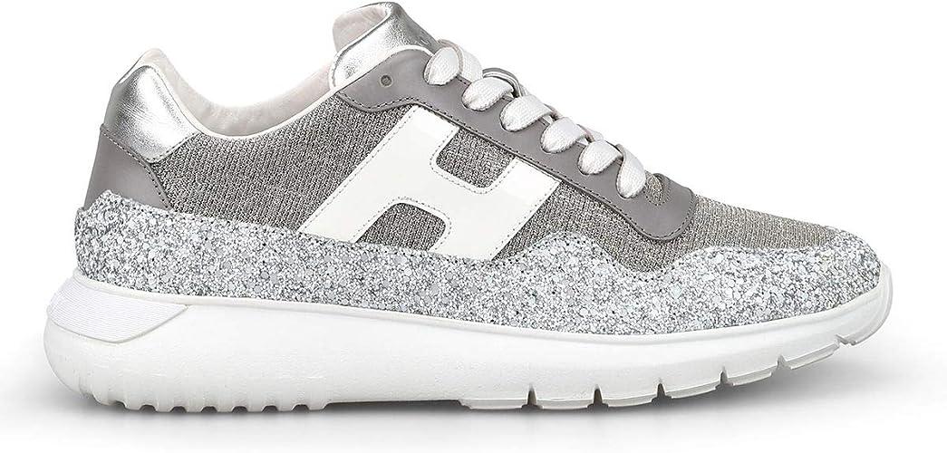Luxury Fashion | Hogan Mujer HXW3710AP31KKT0QDP Plata Zapatillas | Temporada Outlet: Amazon.es: Zapatos y complementos