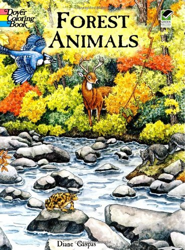 Forest Animals Coloring Book (Dover Nature Coloring Book) (Big Red Barn Book compare prices)