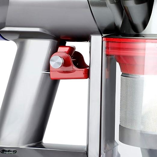 Aieve Bloqueo De Gatillo para Aspiradora Dyson V7 V8, Botón De Interruptor De Encendido Soporte De Accesorios De Bloqueo para Aspiradora Dyson V8 V7 Absoluta / Animal / Motorhead, Libere Su Dedo: