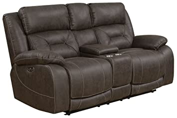 Fabulous Steve Silver Power Recliner Loveseat In Saddle Brown Andrewgaddart Wooden Chair Designs For Living Room Andrewgaddartcom