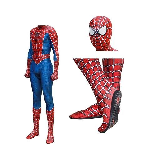 RNGNBKLS Traje De Spiderman Unisex Cosplay De Halloween ...