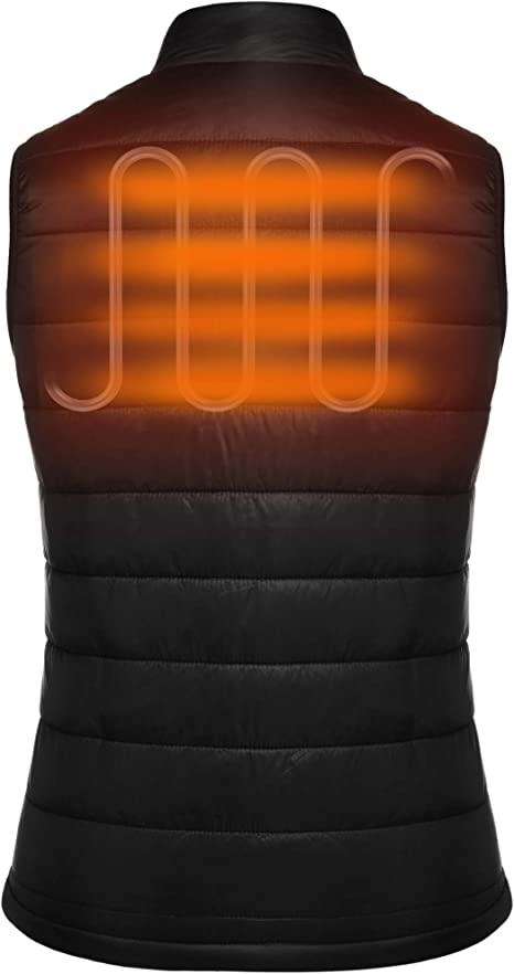 Meaneor Womens Heated Vest with Battery Pack Lightweight Insulated Electric Vest with 3 Heating Levels 2020 Upgrade