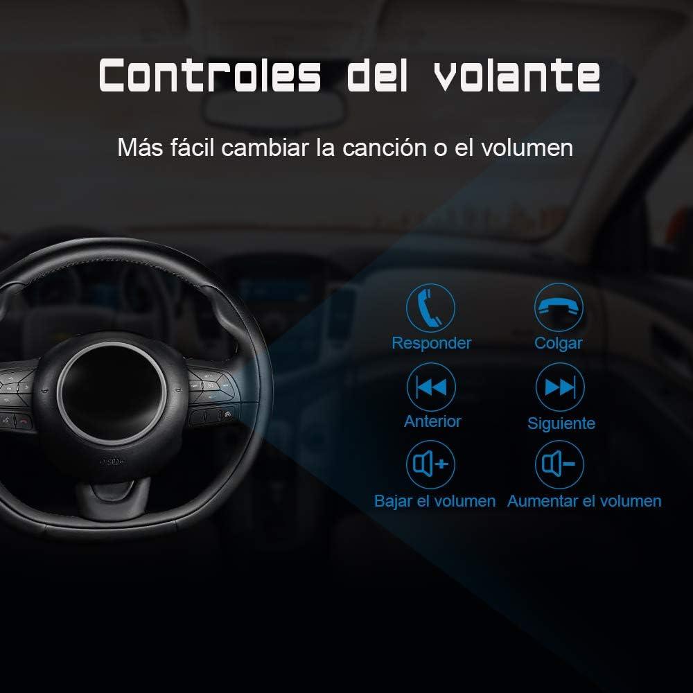 AWESAFE Radio Coche 7 Pulgadas con Pantalla Táctil 2 DIN para VW Seat Ibiza 2009–2013, Autoradio con Bluetooth/GPS/FM/RDS/CD DVD/USB/SD, Apoyo Mandos ...