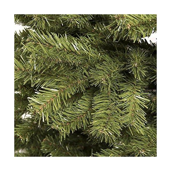 BAKAJI Albero di Natale Pino Cuore d'oro Ecologico e Ignifugo con Base a Croce in Ferro Pieghevole Super Folto Rami Innesto Ad Uncino Colore Verde (210 cm) 3 spesavip