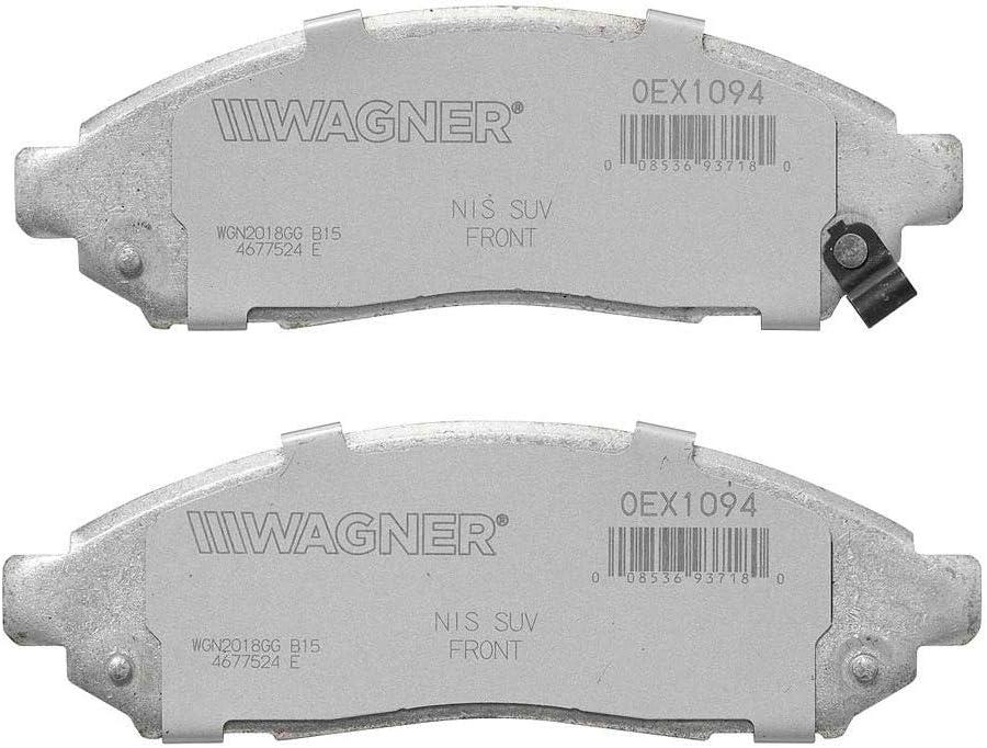 Wagner Brake OEX976 Brake Pad Set Direct Fit Front