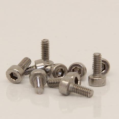 10 pcs Allen tornillos M2X8 V2A DIN 912 acero inoxidable ...
