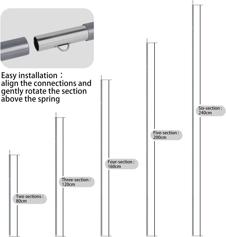 Unigear Palos de Tiendas de Campa/ña Accesorios para Toldo Palos Ajustables de Aluminio de Aviaci/ón 7075-T6 40 80 120 160 240cm