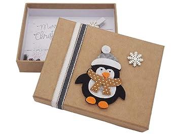 Zauberdeko Geldgeschenk Verpackung Weihnachten Pinguin Schneeflocke