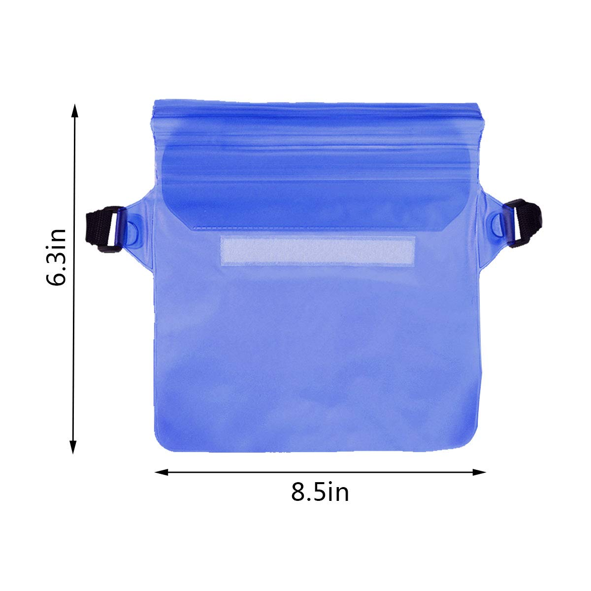 mifengdaer 2PCS Waterproof Pouch with Waist Strap Triple Top Closure Strip Seal System Blue Waterproof Waist Bag Case Pouch Watertight Sealed Dry Bag Case with Adjustable Belt