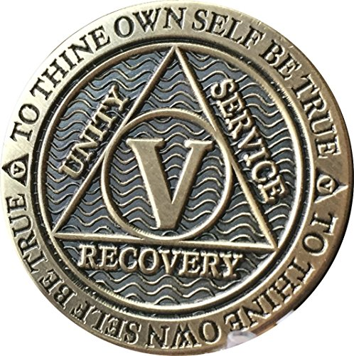 Recoverychip 5 Year AA Medallion Reflex Antique Chocolate Bronze Chip -