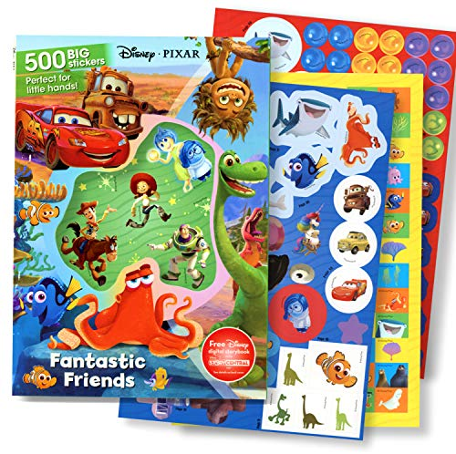 - Disney Pixar Sticker Activity Book with 500 Stickers - Toy Story, Lightening McQueen, Dinosaurs, Nemo, Dory, and More!