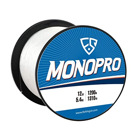FISHINGSIR MonoPro Monofilament Fishing Line – Premium Mono Nylon Lines – Superior Strong and 30 Higher Abrasion Resistance, 175-3280Yds, 4LB-130LB